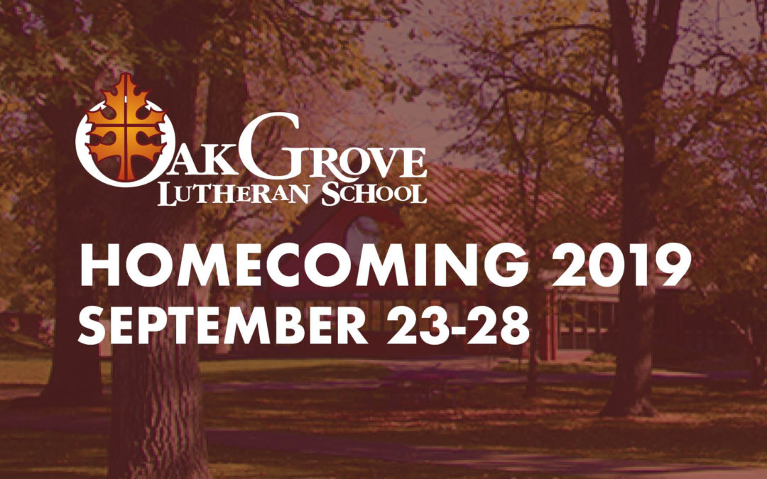 Join us for Homecoming 2019!