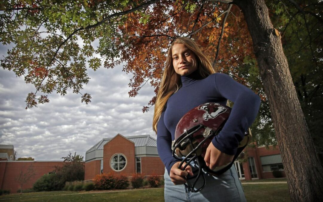 Oak Grove Female Football Player Tackling Challenges On and Off the Field